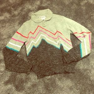 Vintage unusual acrylic 80s sweater